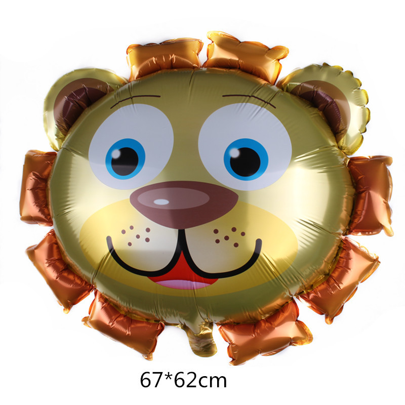 Animal Balloons Birthday Party Decoration Lion Head Panda Zoo Foil Balloon Holiday Wedding Kid Gift Baby Toy Cartoon Hat