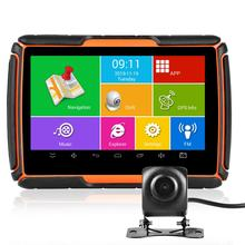 Fodsports Motorcycle Android GPS Navigation 720P Video Recorder Waterproof Bluetooth GPS Navigator Car Motorbike Camera DVR mr9504 720p bus monitor system with gps module