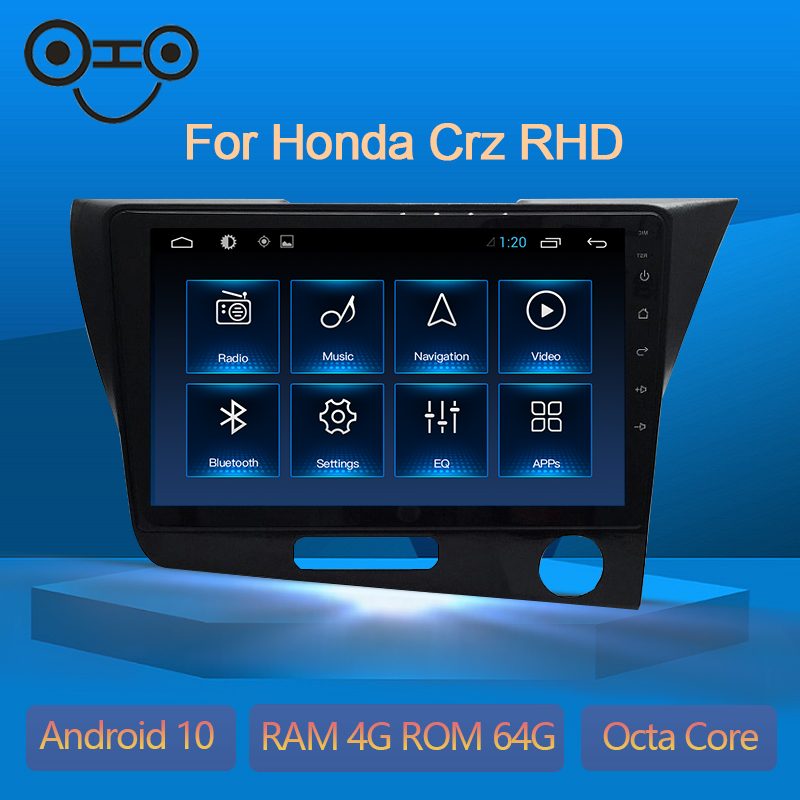 Cr-Z Android 9.0 Octa Core 4+64G Gps Navigation Car Multimedia Radio For Honda Crz RHD
