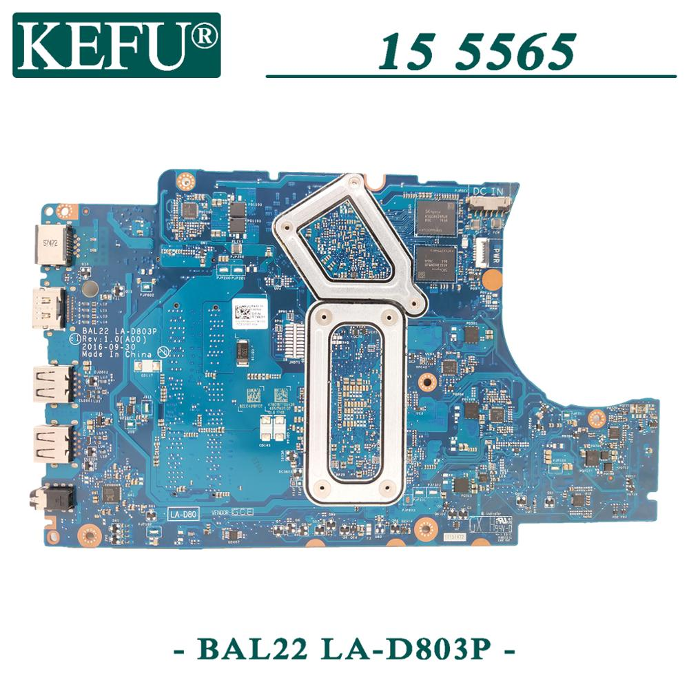 KEFU LA-D803P original mainboard for Dell Inspiron 5565 with A10-9600P R7-M445 4GB Laptop motherboard 2