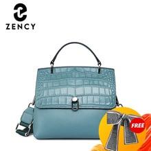 Zency Fashion Elegant Design Women's Handbag Crocodile Leather Shoulder Bag Large Capacity Ladies Commute Working Crossbody Bag