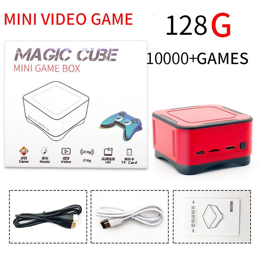 Mini TV Game Console Built-In 10000 Games Retro Classic Handheld Gaming Player AV/HDMI Output 4K HD Video Games Console