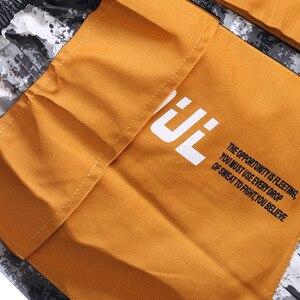 Image 5 - Hip Hop kamuflajlı kargo pantolon Streetwear erkekler Harajuku taktik pantolon çok cep 2019 dökümlü pantolon HipHop Harem pantolon rahat