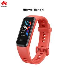 Oryginalny Huawei Honor Band 4 inteligentny zespół nadgarstek Amoled wodoodporny ekran dotykowy sen Fitness Tracker tętno globalna wersja tanie tanio Kolorowy WYŚWIETLACZ LCD Android SİLİCA Passometer Uśpienia tracker Przypomnienie połączeń Ciśnienie krwi Budzik