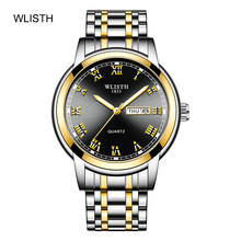 Watch Men Watch Waterproof Business Night Light Genuine Watch 2020 New Steel Band Quartz Watch Trend WLISTH Brand Free Shipping(China)