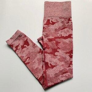 Image 2 - Nepoagym נשים חדש צבעים Camo יוגה מכנסיים נשים גוץ הוכחת חלקה חותלות רך יוגה חותלות דחיסת מכנסיים נשים