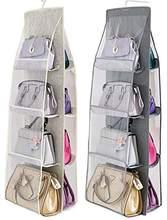 Wisząca torebka torebka Organizer, oddychająca torebka Organizer,8 łatwy dostęp kieszenie szafa szafa oszczędność miejsca organizatorzy