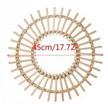 Ротанговое инновационное художественное украшение круглое зеркало