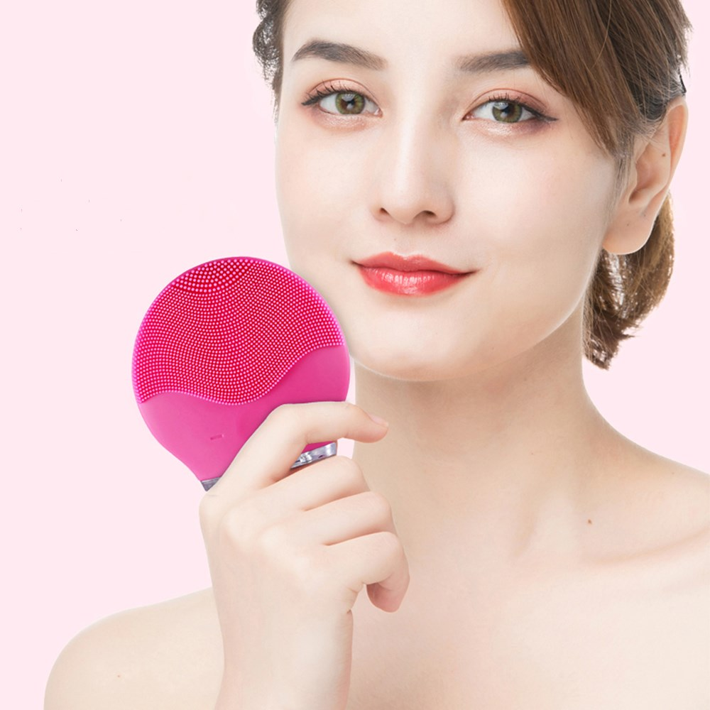 Electric Facial Cleansing Brush Ultrasonic Vibration Massage Face Washing Brush Skin Blackhead Remover Cepillo Facial