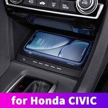 Специальный бортовой QI беспроводной телефон зарядное устройство Панель автомобильные аксессуары для Honda Civic 10th