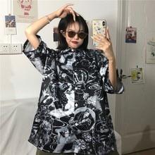 NiceMix gothic blouse Korean streetwear shirt women blouses wild plus size clothing vintage 2020 new womens summer top shirts