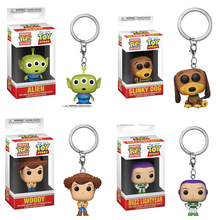 Keychain Toy Story Woody Alien Buzz Lightyear PVC Action Figure Collectible Model toys for chlid цены онлайн