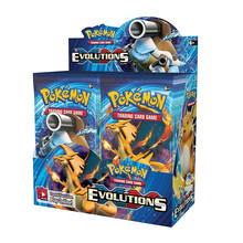 Evoluções vívidas da tensão com caixa inglês pokemon cartão pikachu mega brilhando cartões jogo batalha carte negociação crianças brinquedo