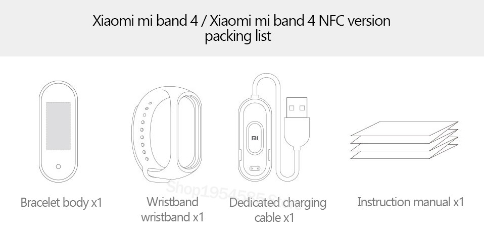 Xiaomi Mi Band 4 Smart Watch Standard Version Heart Rate Activity Fitness Tracker Smart Band Bracelet Colorful Display 2019 New (8)