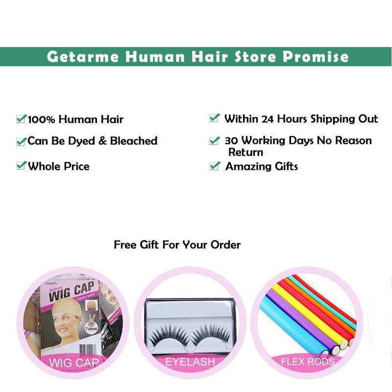 Getarme 3 peças/lote pacotes tecer cabelo brasileiro em linha reta 100% cabelo humano tece a cor natural pode ser tingido remy extensão do cabelo