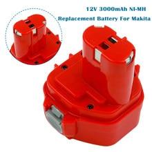Bateria de substituição para makita 12v 3000mah ni mh bateria recarregável ferramentas elétricas bateria pa12 1220 1222 1235 1233s 6271d l50