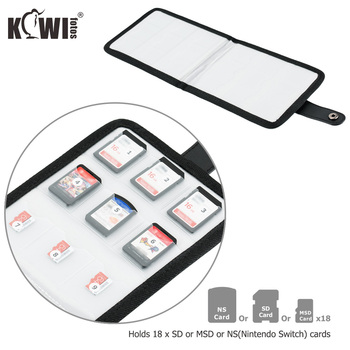 Kiwi Portable Memory Card Pouch Storage Case Bag for 18 SD or TF or NS(Nintendo Switch) Cards for DSLR Mirrorless Camera