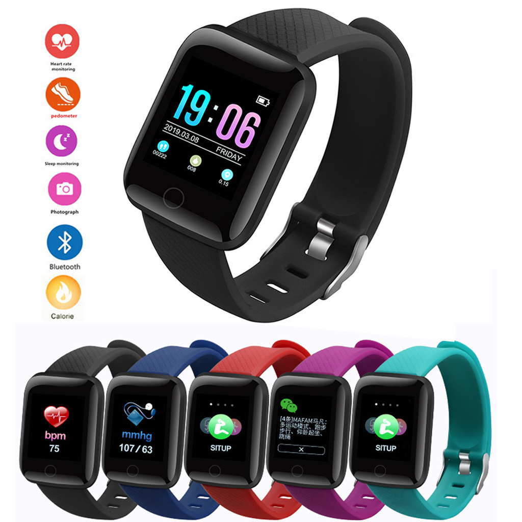 Smart Watch OLED Color Screen Bluetooth Clock Tacker Bracelet Wearable Smart Bracelet Sleep Monitor Step Counter Pedometer Watch image