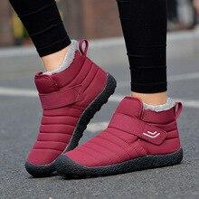 цена Winter New Ankle Boots for Women Snow Boots Fur Shoes Woman Fashion Casual Warm High Top Waterproof Plus Size 35-46 Couple Shoes онлайн в 2017 году