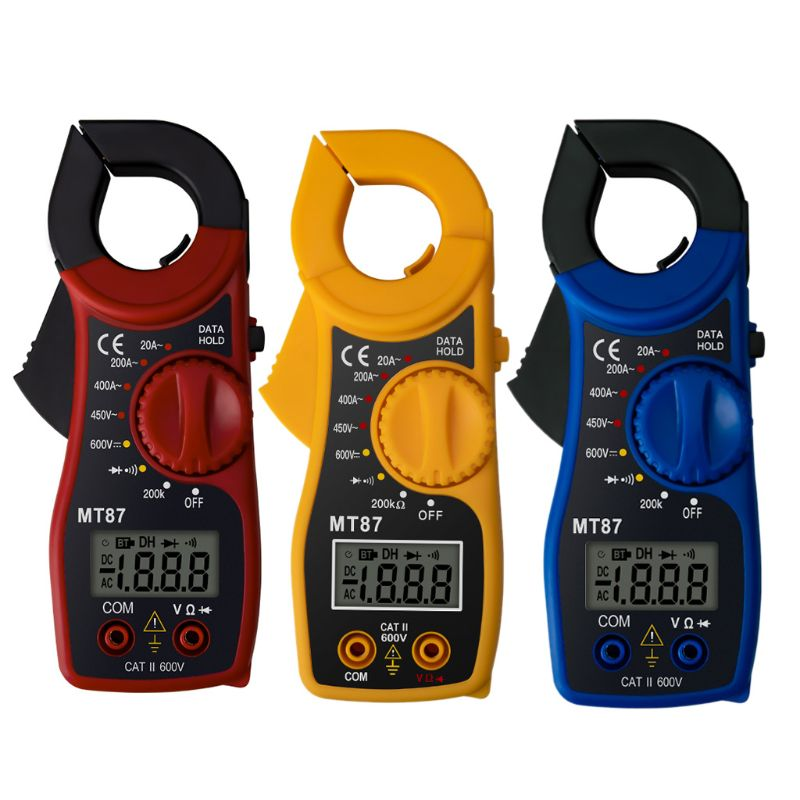 Ootdty mt87 lcd 디지털 클램프 미터 멀티 미터 ac/dc 전류계 전압계 저항 테스트 a5yd