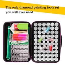 5d hobby diamante mosaico bordado acessórios 142 peças caixa de armazenamento pintura diamante ponto cruz caixa bordado mosaico grânulo
