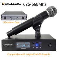 Leicozic QLXD Digitale Microfono Senza Fili Sistema di QLXD4 Palmare Mic Singolo Canale di Lavoro Con Originale SM-58A Capsula 628-668Mhz