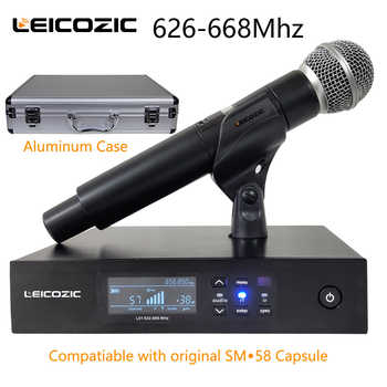 Leicozic QLXD Digital Microphone Wireless System QLXD4 Handheld Mic Single Channel Work With Original SM-58A Capsule 628-668Mhz - DISCOUNT ITEM  0% OFF All Category