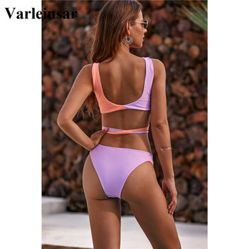 NEW 2020 Wrap Around Bikini Brazilian Swimsuit Female Swimwear Women Two-piece Bikini Set Bandage Bather Bathing Suit Swim V1857 5