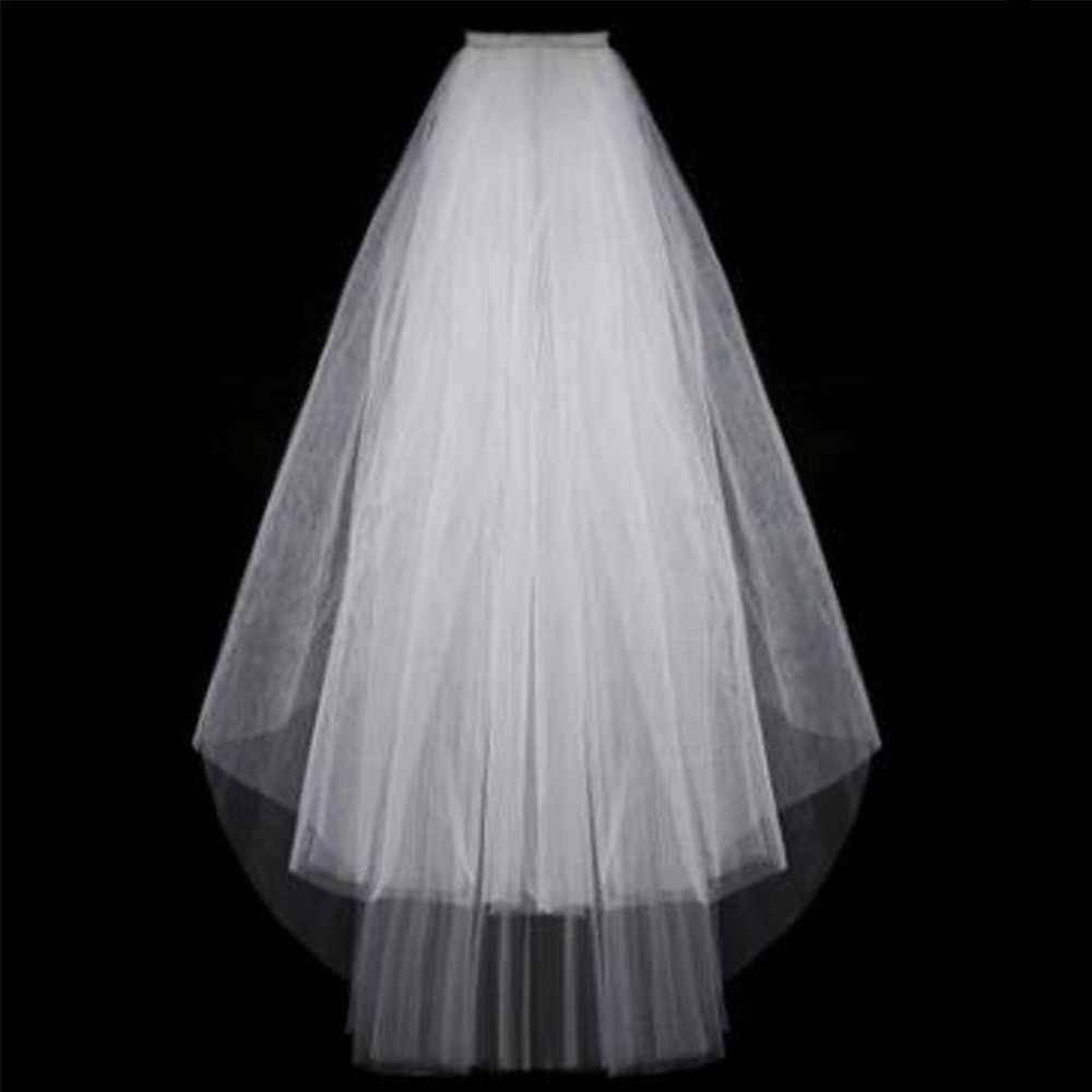 Einfache Kurze Tüll Hochzeit Schleier Billig 2016 Weiß Elfenbein Braut Schleier für Braut für Mariage Hochzeit Zubehör