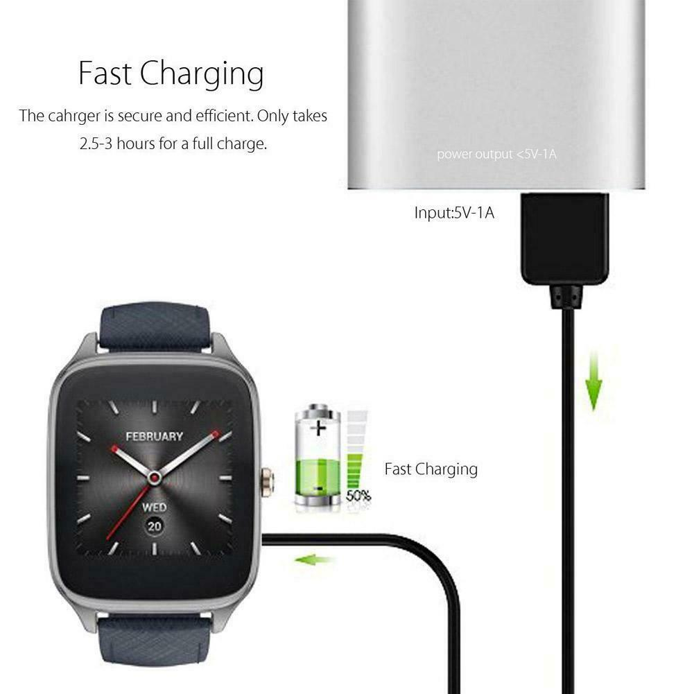 1M 3Ft USB Magnetic Faster Charging Cable Charger For ASUS ZenWatch 2 Smart Watch Smartwatch Sport Watch Accessories