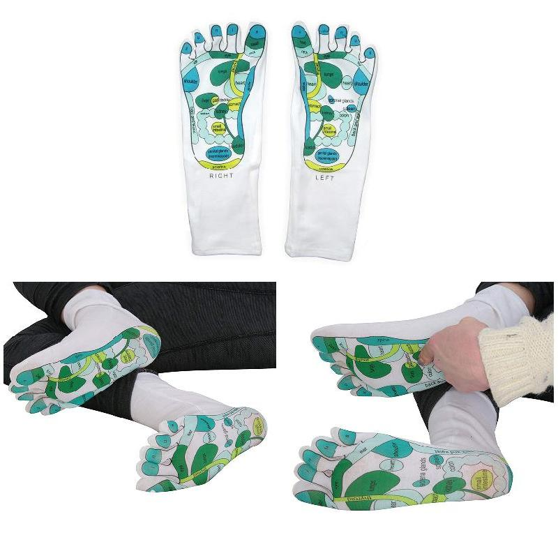Reflexology Socks Single Toe Design Far East Healing Principles Sock C55