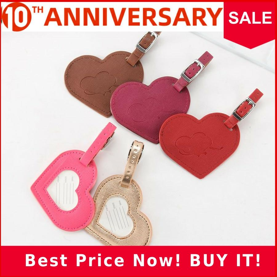 Zoukane Heart Leather Suitcase Luggage Tag Label Bag Pendant Handbag Travel Accessories Name ID Address Tags LT14