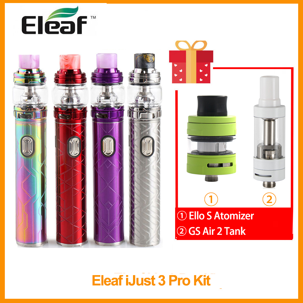 Gift GS AIR 2/ELLO <font><b>S</b></font> Original <font><b>Eleaf</b></font> <font><b>iJust</b></font> 3 Pro With Ello Duro Kit Built in <font><b>3000mAh</b></font> 6.5ml Tank Output 75W HW-M/HW-T2 Coil E-Cig image