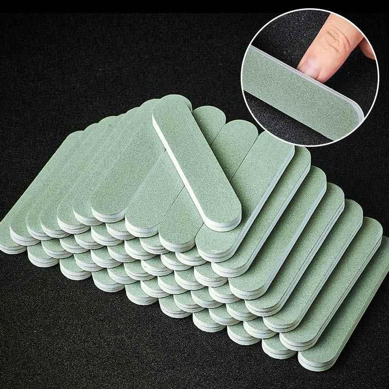ضعف الجانب الإسفنج مبرد أظافر صغيرة الملفات الرملي كتلة حصى UV جل البولندية أداة إزالة الجلد الميت مانيكير أدوات مبرد أظافر الملفات
