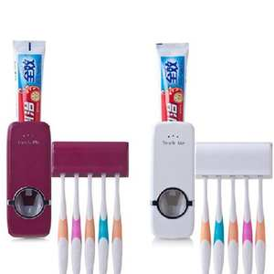 Toothbrush-Holder Gargle Automatic Wash Plastic And Lazy Creative 1set