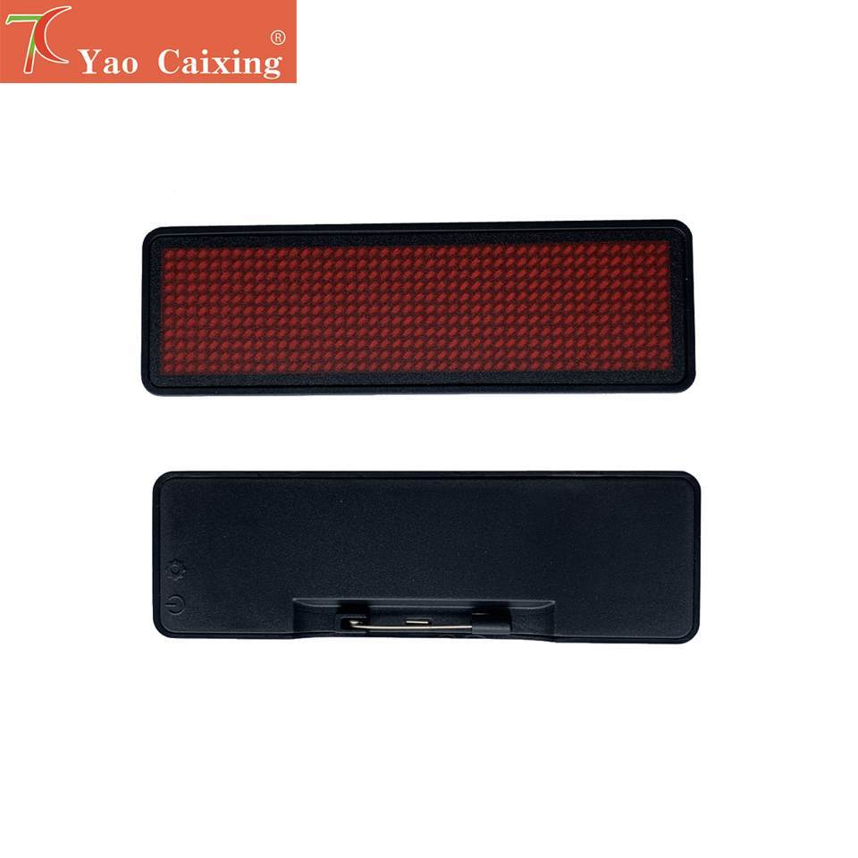 Free Shipping Xxx LED Name Badges Pocket Small Matrix Red Color Display Screen