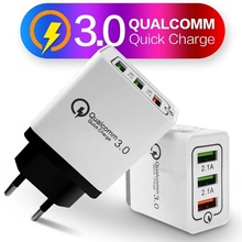 18W Phone Fast Charger 3-Port USB Wall Charger Home Travel Quick Charg