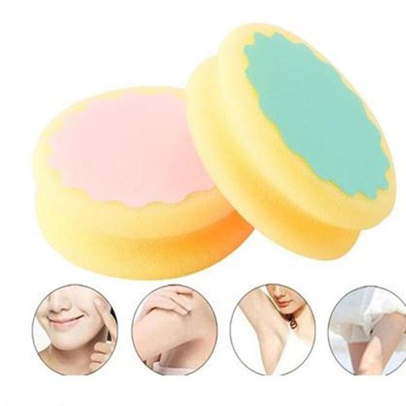 Painless Women Hair Removal Sponge Soft Cute Depilation Tools Skin Care Sponges Beauty Ladies Lovely Sponge For Hair Removal