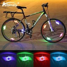Luz de radios de bicicleta impermeable 3 modos de iluminación luz de rueda de bicicleta LED fácil de instalar luz de advertencia de seguridad de bicicleta con batería