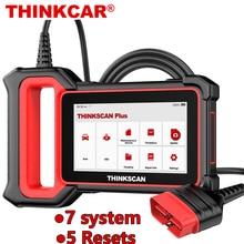 THINKCAR Thinkscan Plus S7 OBD2 Scanner TPMS Öl DPF Gas Reset SRS BCM Motor TCM IC AC ABS System Diagnose werkzeuge OBD 2