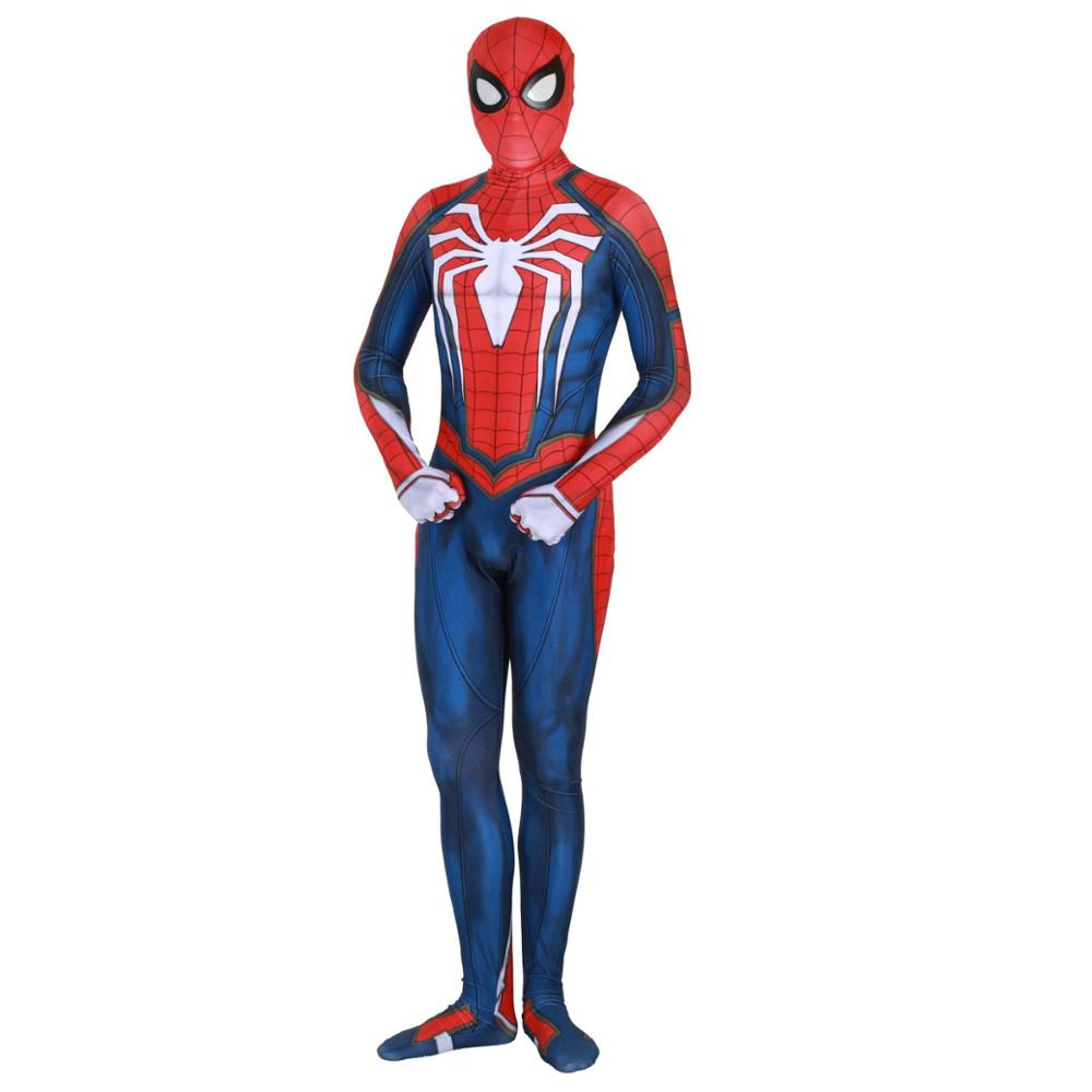 New PS4 spiderman costume Spandex Games Kostuum Cosplay Costume Christmas Kids Adult Bodysuit Suit Jumpsuits Rompers costume image