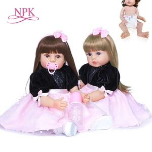 55CM new arrival original NPK very soft full body silicone bebe doll reborn toddler girl princess baby doll waterproof bath toy
