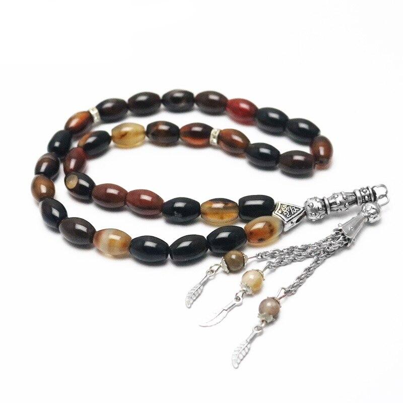 Image 2 - Islamic Color Prayer Beads Rosary Tasbih Allah Misbaha Taspeeh  Sibha Masbaha Tesbih Muslim Gift Subha MisbahaStrand Bracelets   -
