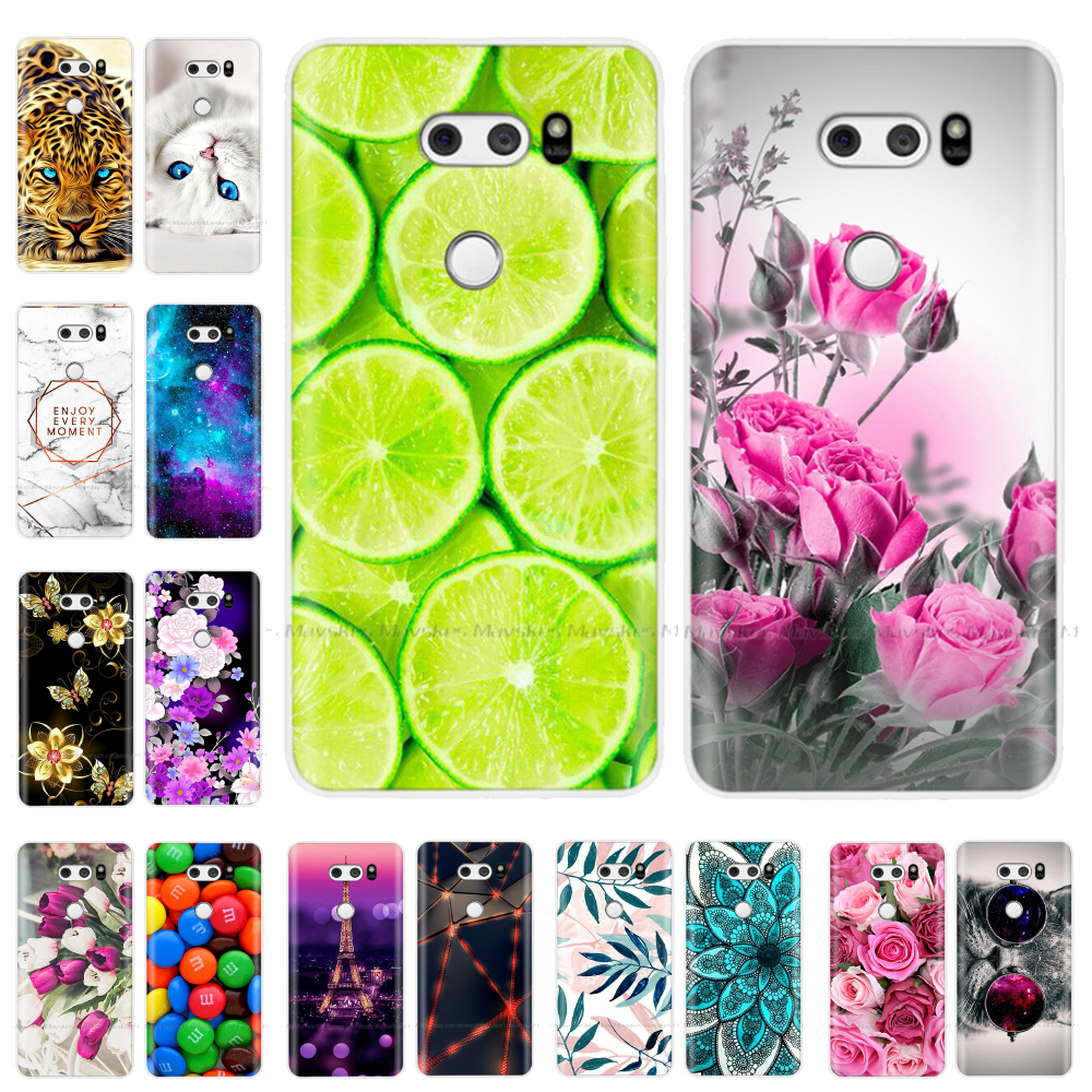 6.0 Inch For LG V30 Case Soft Silicone Shockproof Anti-Knock Case For LG V30 Cover LGV30 Case Back Cover Bag Coque Fundas Shell