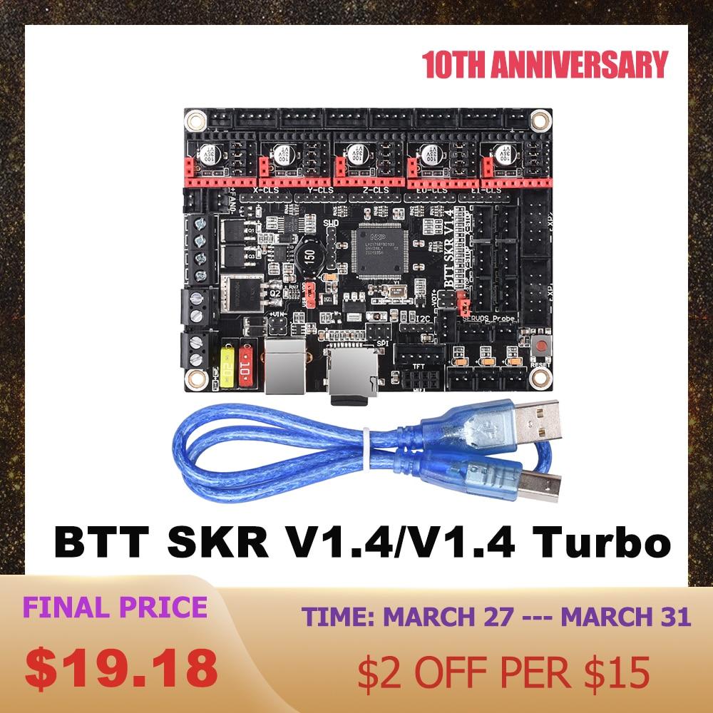 BIGTREETECH BTT SKR V1.4 SKR V1.4 Turbo Control Board 32Bit 3D Printer Parts TMC2208 UART TMC2209 Tmc2130 SPI SKR V1.3 MKS GEN L