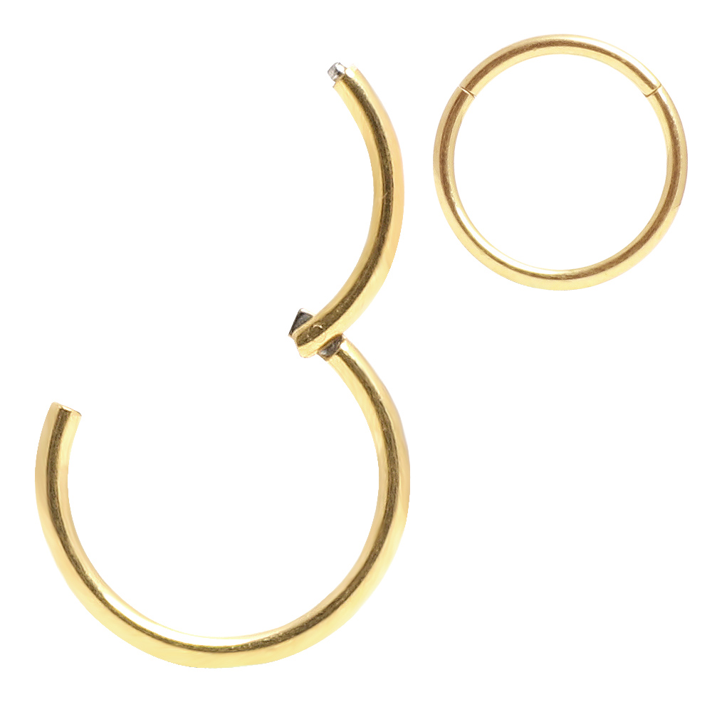 Hinged Septum Clicker Segment Nose Ring Lip Ear Cartilage Daith