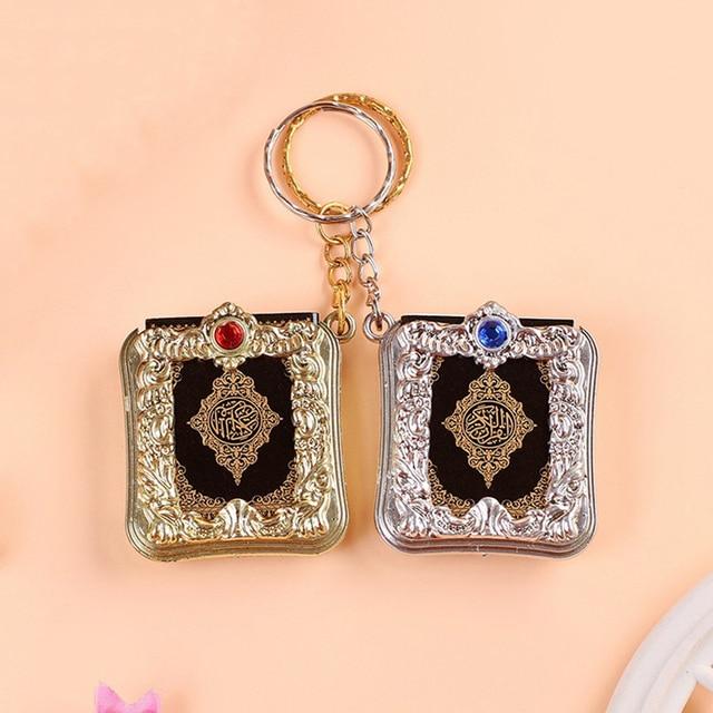 New Hot Fashion Mini Ark Quran Book Koran Pendant Muslim Keychain Bag Purse Car Decor Newly Ring Gift Key Chains Hot