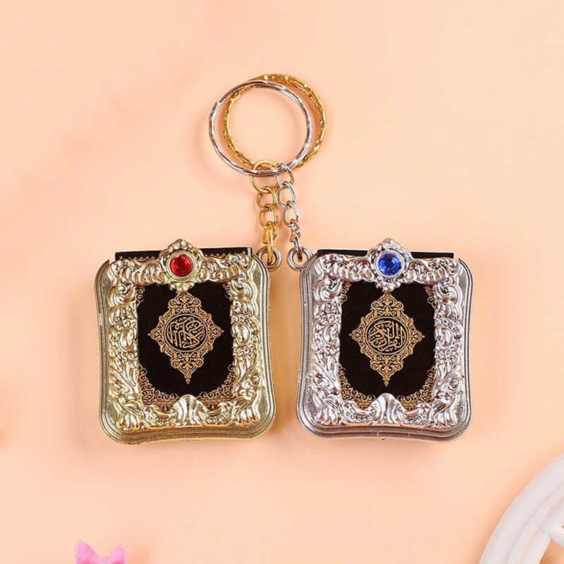 Nieuwe Hot Fashion Mini Ark Koran Boek Koran Hanger Moslim Sleutelhanger Bag Purse Auto Decor Nieuw Ring Gift Sleutelhangers hot