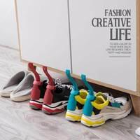 2 pièces de couleurs corne à chaussures professionnel en plastique chausse-pied à longue poignée