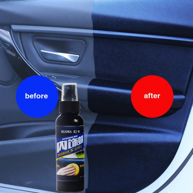 1PC 120ml Car Leather Care Cleaner Plastic Part Retreading Agent  Auto Liquid Polishing Spray Car Interior Detailing Accessories